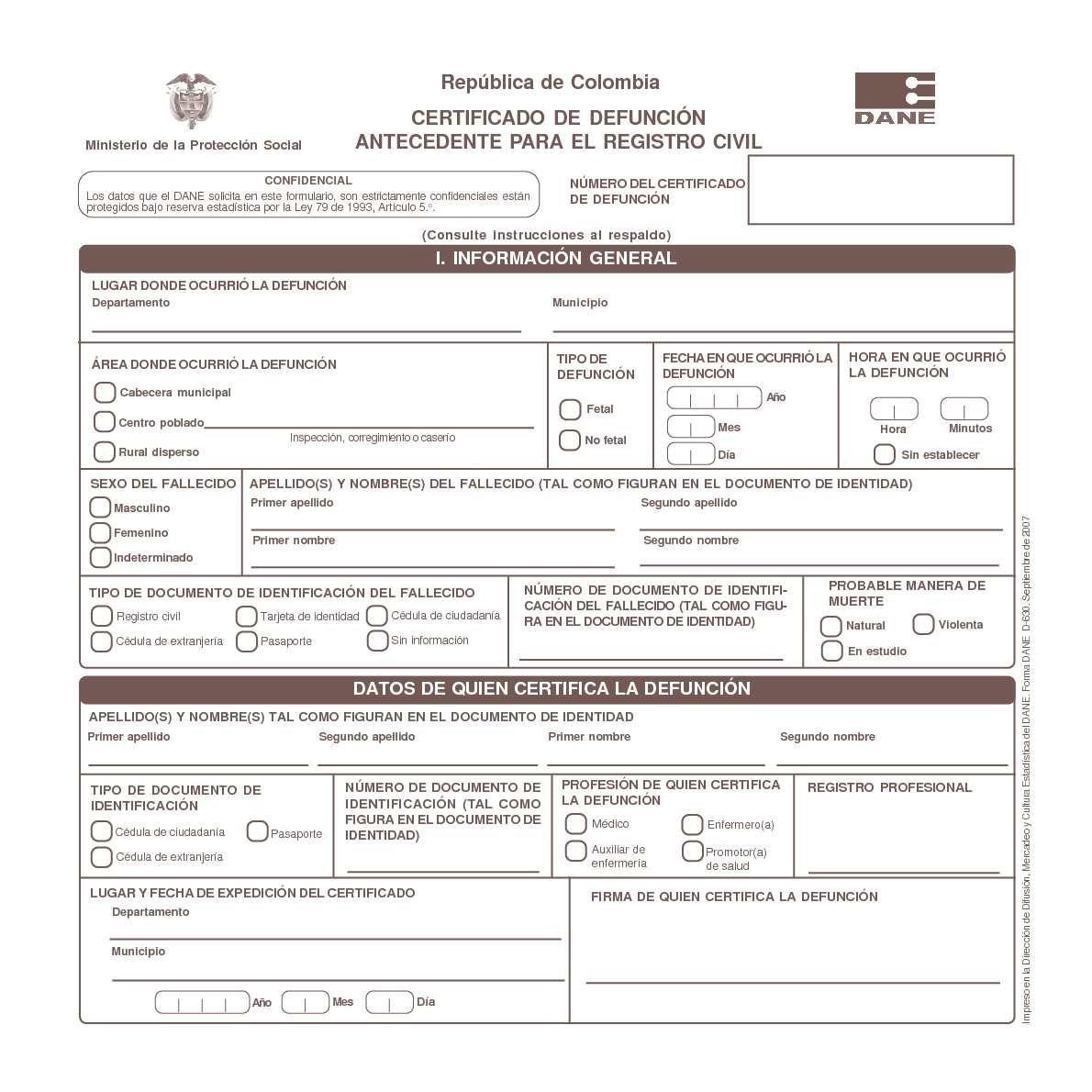 certificado de defunción | cc | Pinterest | Digital