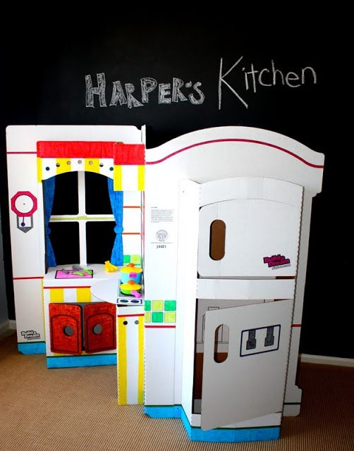 PLAY KITCHEN -  mine was just made of  cardboard!  Not exactly like this one.
