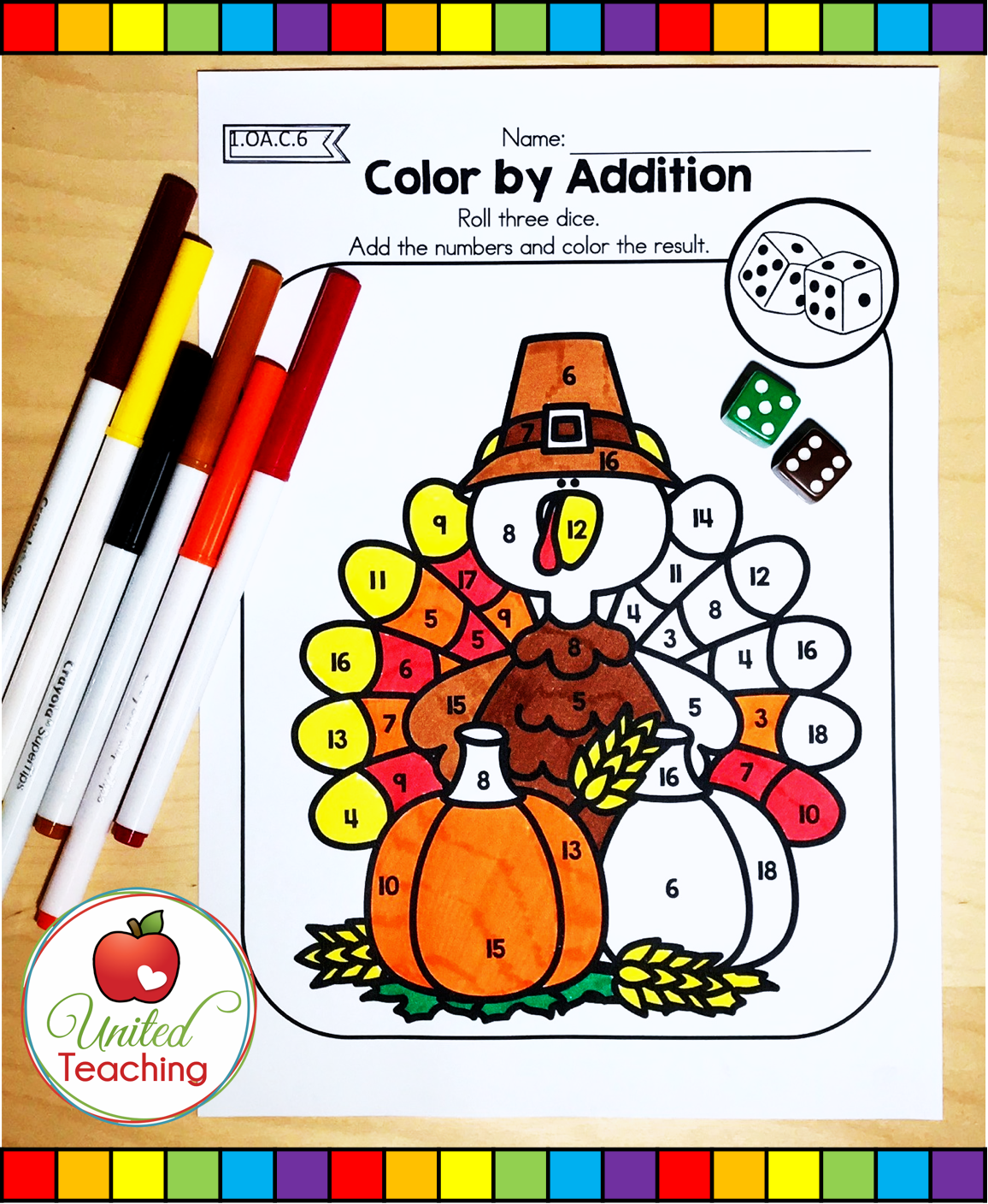 Thanksgiving Math Worksheets 1st Grade With Images