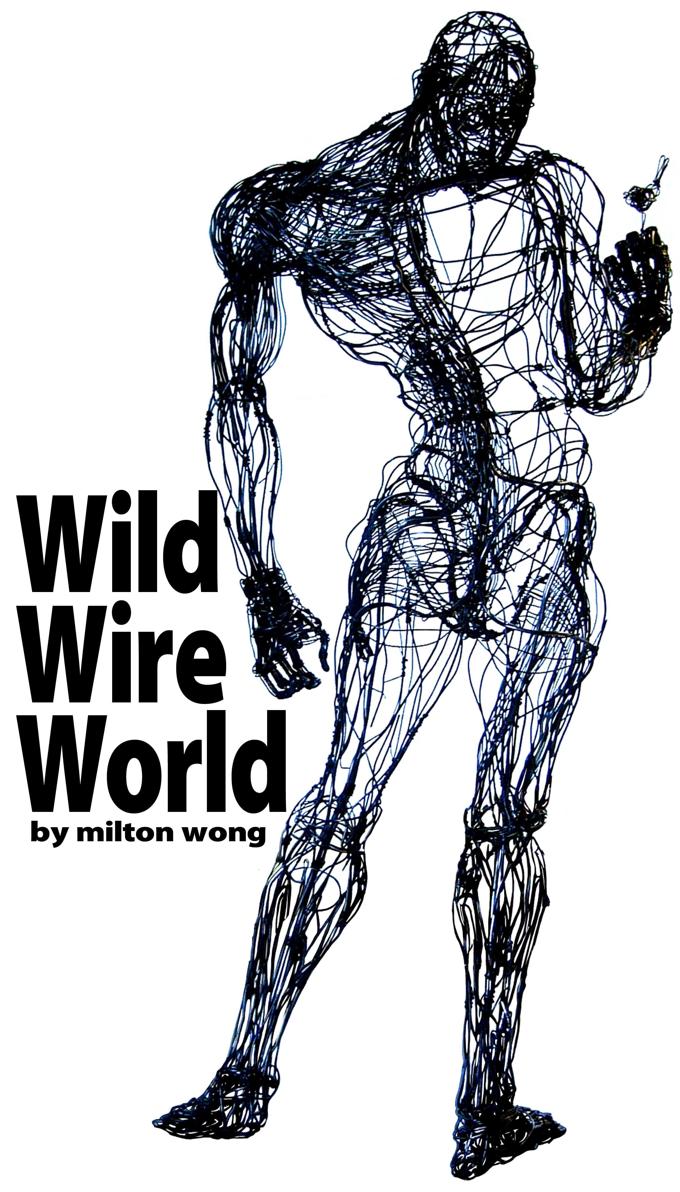 Wire man & bird-by Milton Wong