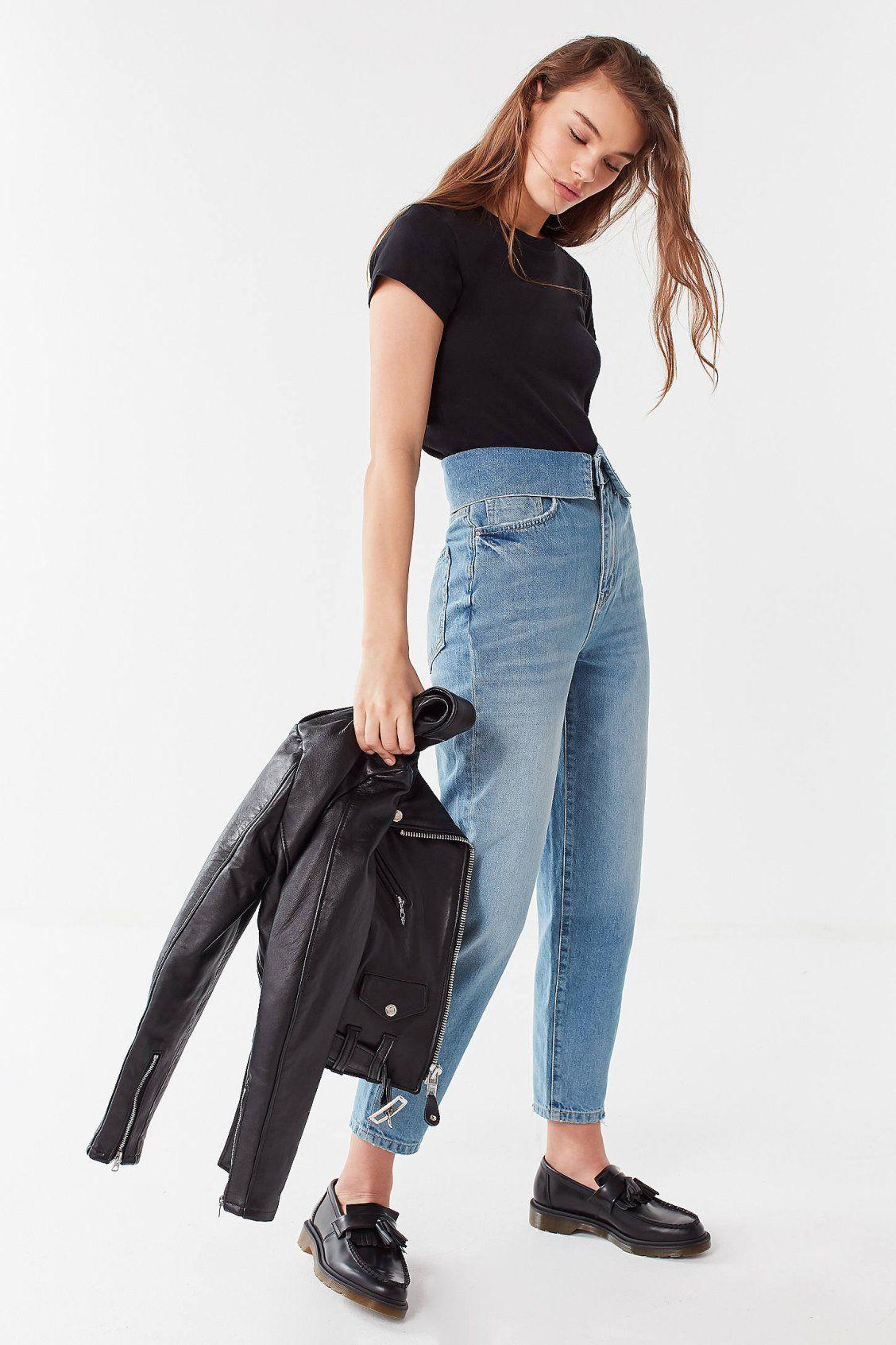 c04dabb96b87d BDG Zayley Fold-Over Straight-Leg Jean | #UODenim | Fashion, High ...