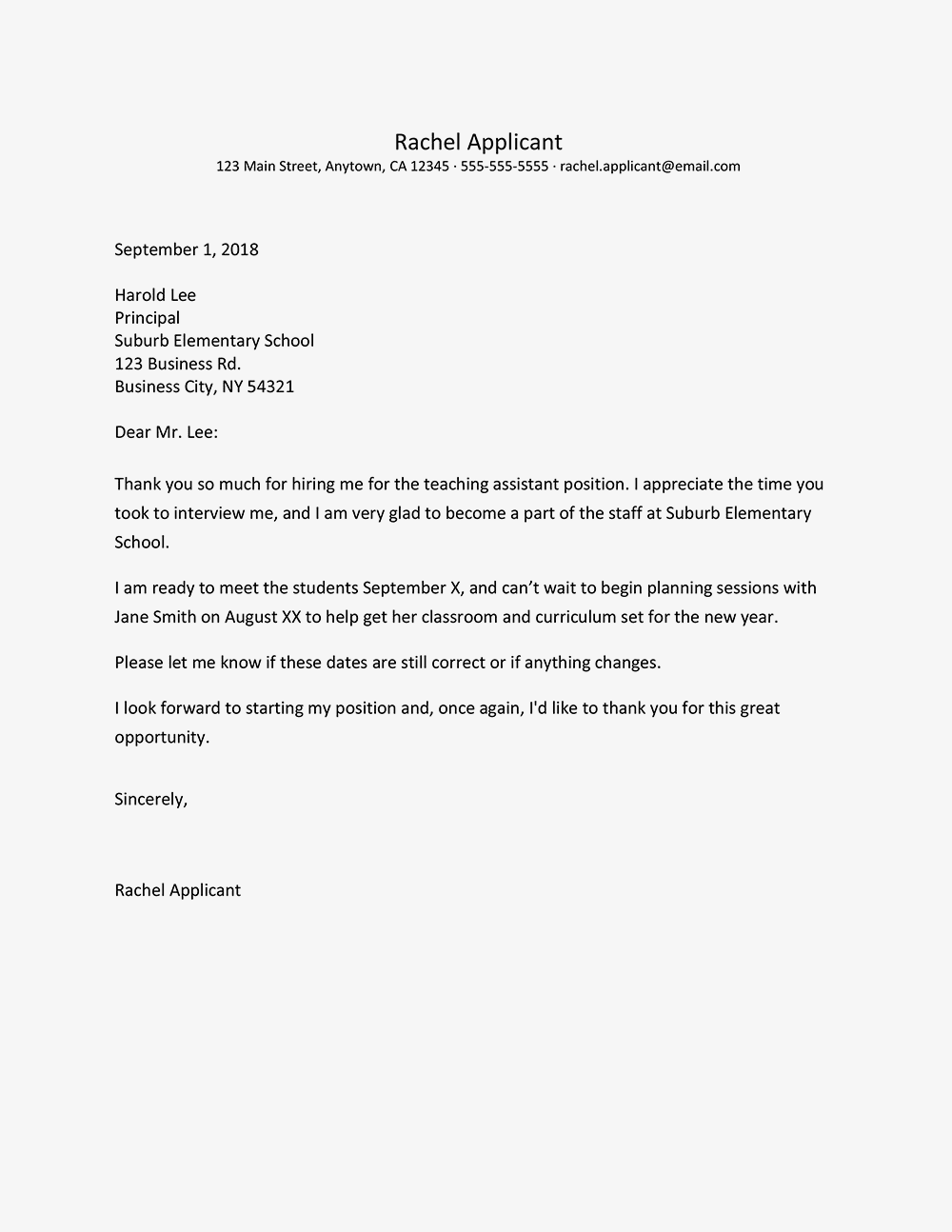 Thank You Letter For Hiring from i.pinimg.com