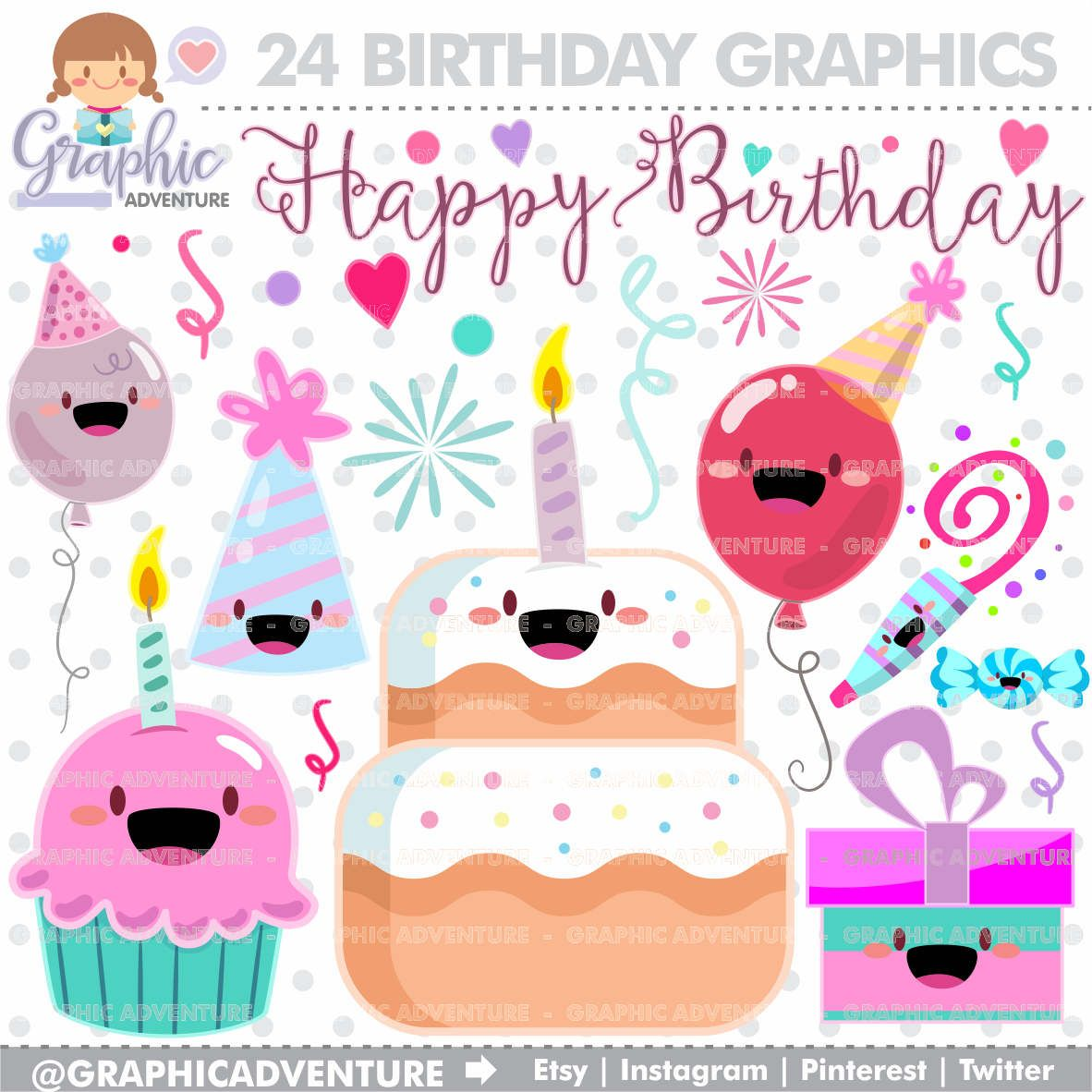 Birthday Clipart Birthday Graphics Clip Art Commercial Use