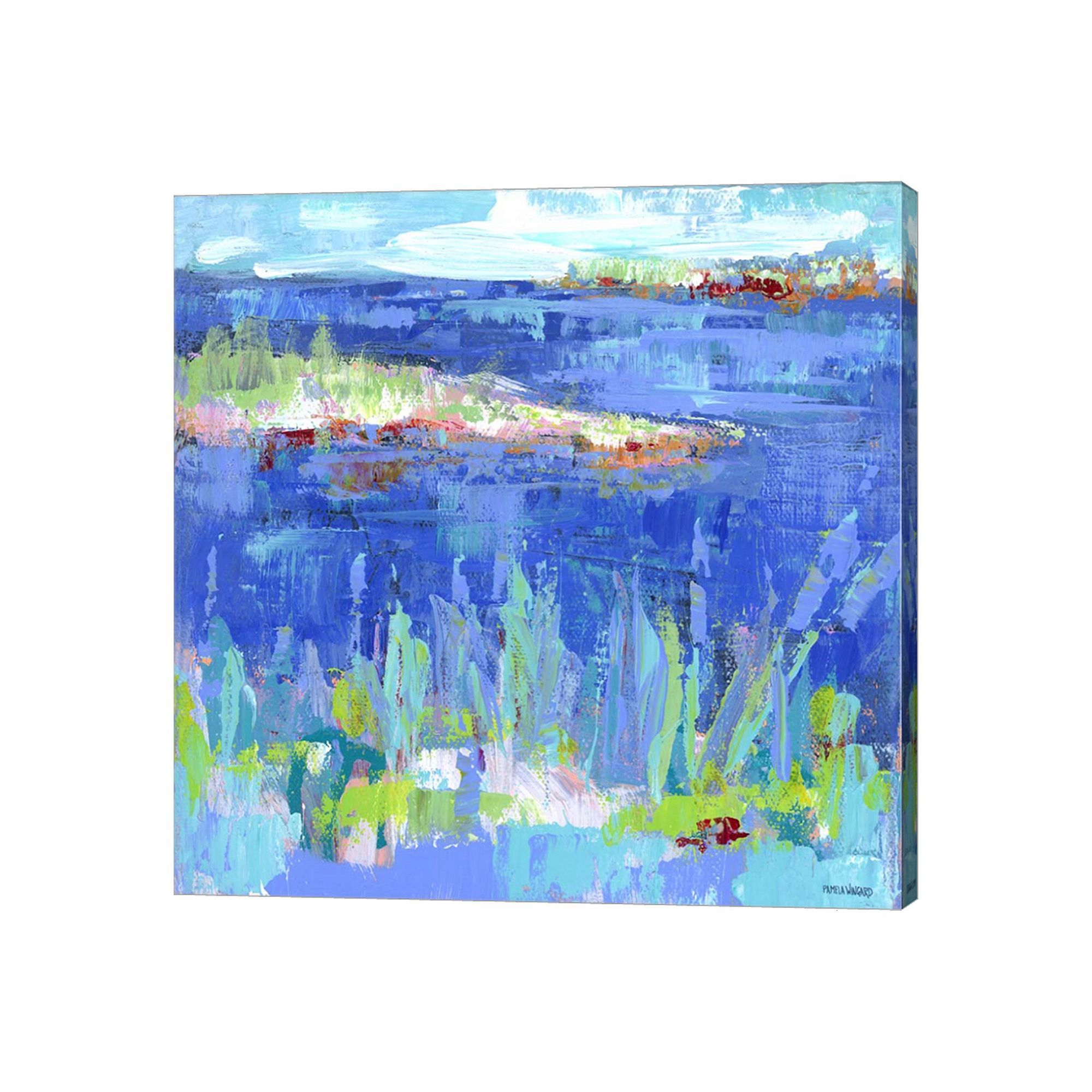 Metaverse Art Blue Series Serene Canvas Wall Art Canvases and Products