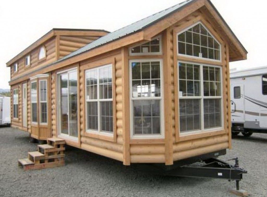 Gorgeous Two Bedroom Park Model Home By Rich S Portable Cabins Tiny House Towns House Styles Built In Kitchen Cupboards