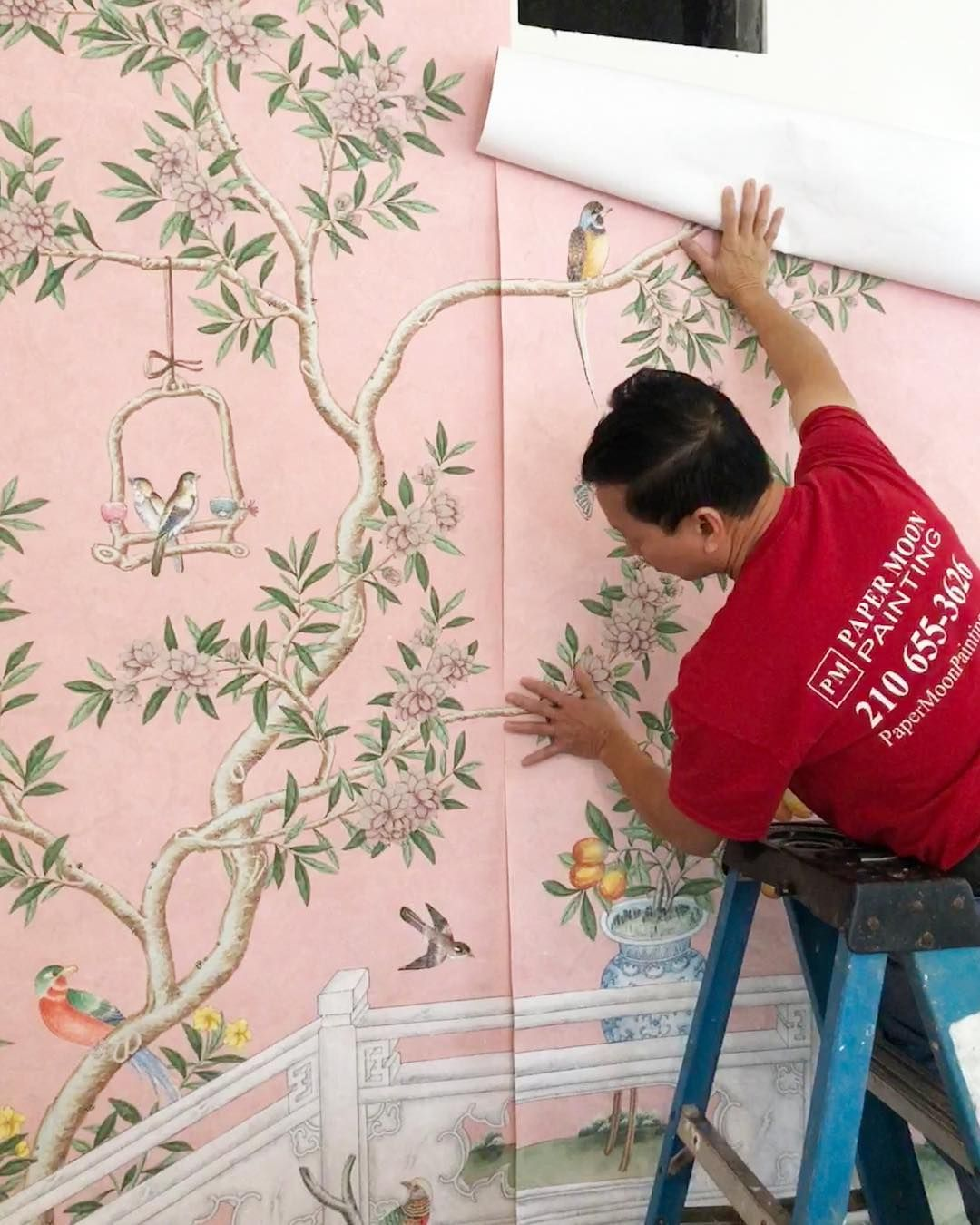 Pink Floral Chinoiserie Gracie Wallpaper Installation Gracie Wallpaper How To Install Wallpaper Pink Floral