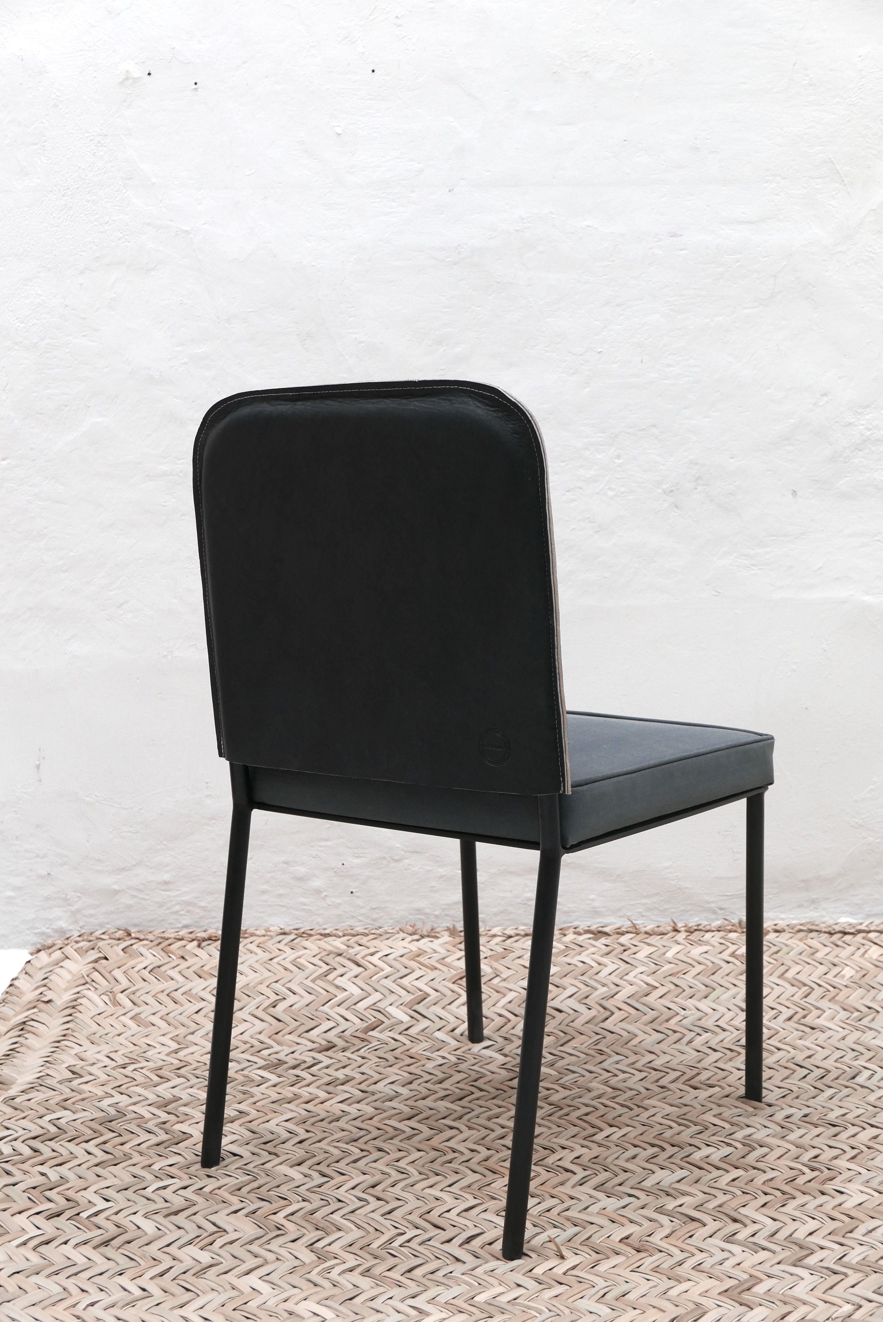 Ojai Saddle Leather Side Chair Casamidy
