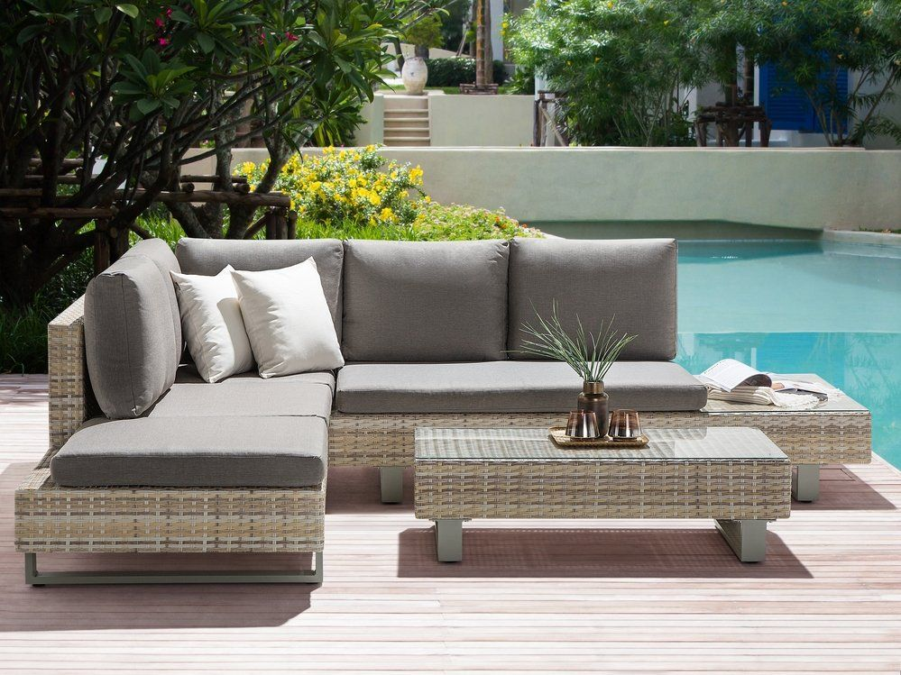 Rattan Garden Sofa Set Lanciano In 2020
