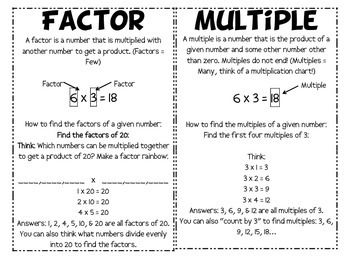 Multiplication Vocabulary Math Vocabulary Vocabulary Teaching Math