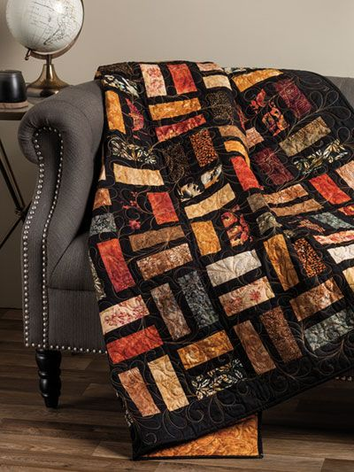 EXCLUSIVELY ANNIE'S QUILT DESIGNS: Two Step Quilt Pattern #jellyrollquilts