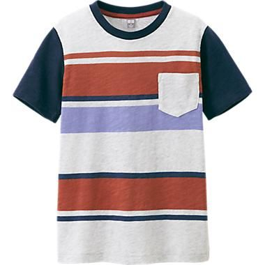f28c27613 KIDS STRIPED CREW NECK SHORT SLEEVE T-SHIRT | Boys Clothes For ...