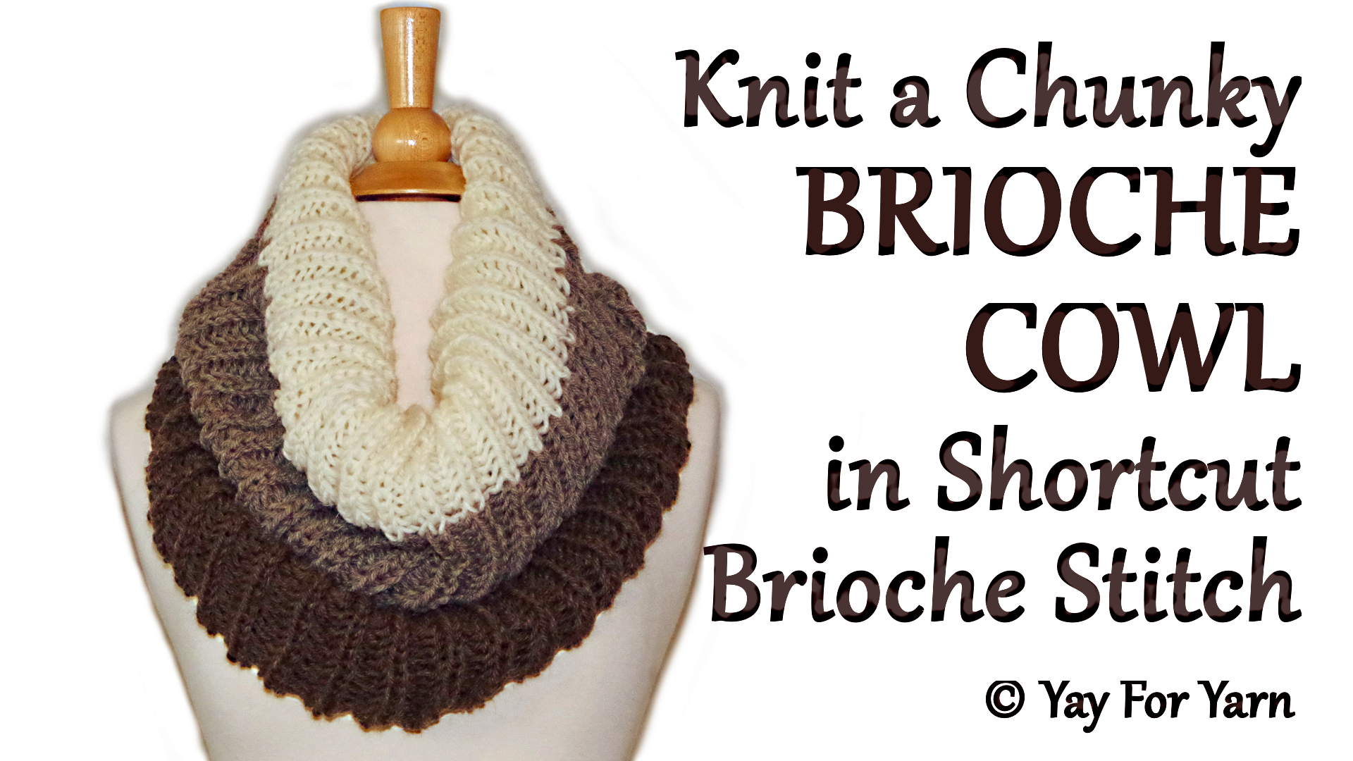 How to Knit an Easy Brioche Cowl in SHORTCUT Brioche Stitch – Free ...