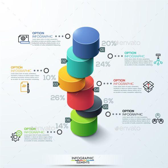 Modern 3d Style Cylinder Ladder Chart Data Visualization Design Diagram Design Infographic