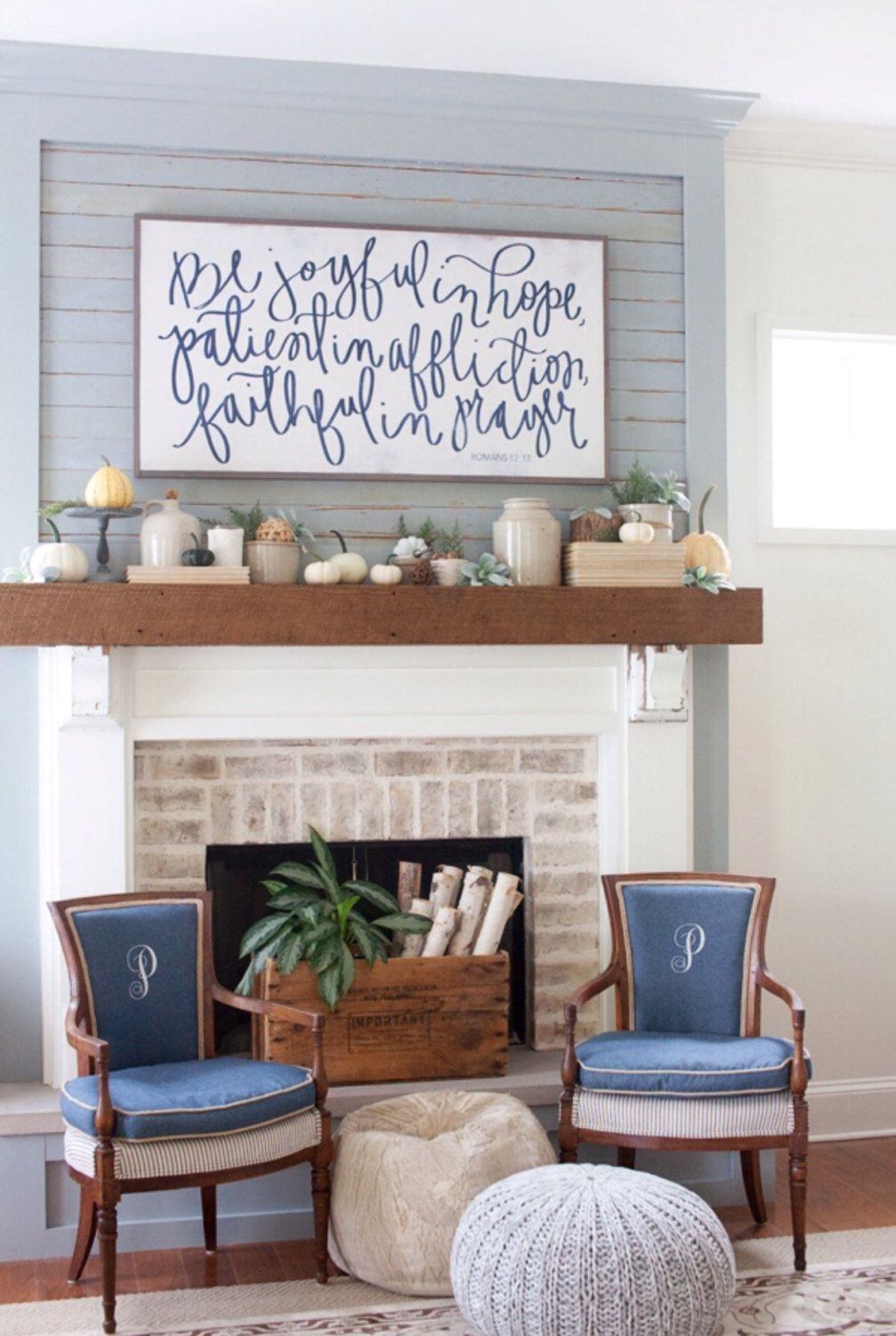 Romans 1212 aedriel by houseofbelongingllc on etsy free fonts stone instead of white brick darker mantle piece do it yourself large pretty sign focal point with neutrals and blue fall mantel inspiration home decor solutioingenieria Gallery