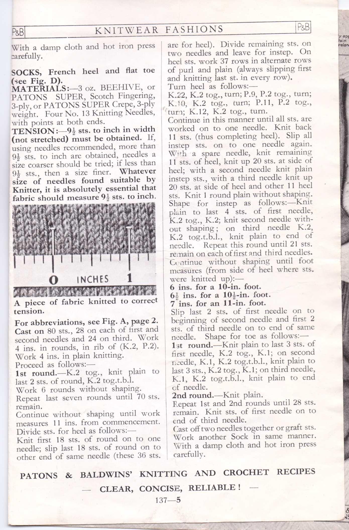 men\'s socks free knitting pattern 4 | knit | Pinterest | Vintage ...