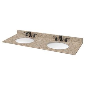 Estate By Rsi Desert Gold Granite Undermount Double Sink Bathroom Vanity Top Common 61