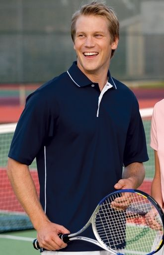 20278431 K467 Dri Mesh Polo with Tipped Collar and Piping   Men's Knit Shirts ...