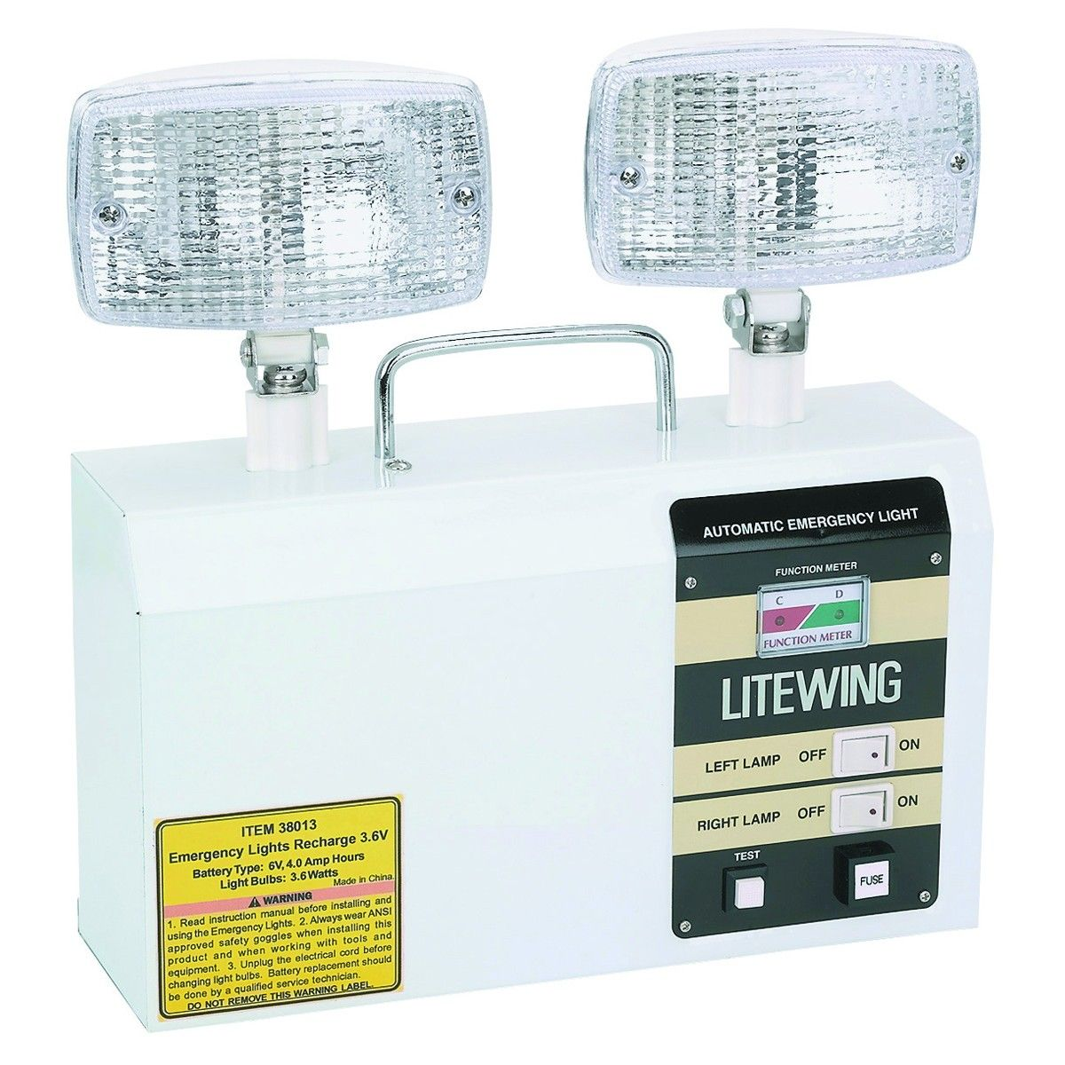 the hallway emergency light from harbor freight tools illuminates