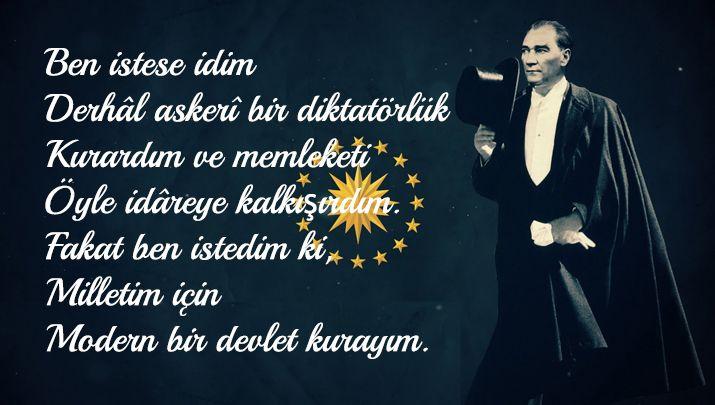 Biliyor muydun ? /// Atatürk'ün Kendisi Hakkında Söylediği Samimi Sözler