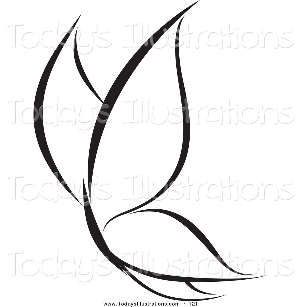 Black And White Butterfly Clip Art Free