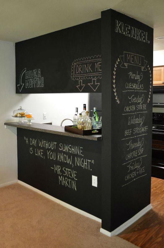 32 Cool Chalkboard Room Divider Design Ideas
