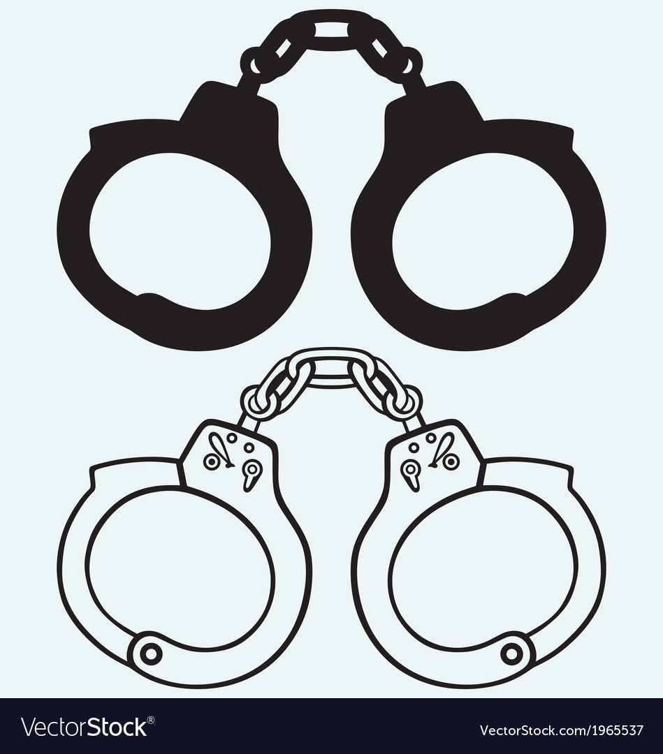 Handcuffs Silhouettes Royalty Free Vector Image Ad Royalty Silhouettes Handcuffs Image Ad