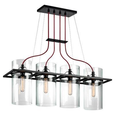 Sonneman Square Ring 4 Light Kitchen Island Pendant
