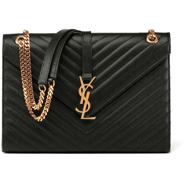 Saint Laurent Monogram Matelasse Leather Chain-Strap Shoulder Bag ... a30ed67910567