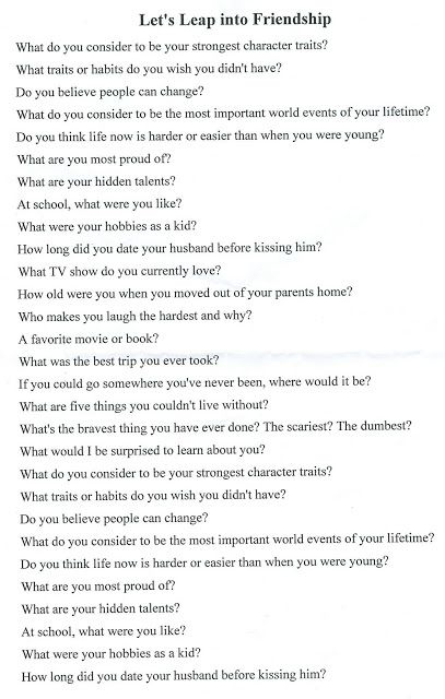 Speed dating questions ideas for baby