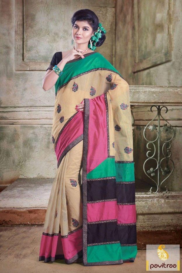 Cream pink silk chanderi wedding wear saree 2016 in exciting offer. This designer made saree is very beautiful. Buy this saree for wedding season in cheap price.  #sari, #festivalwearsaree, #designersarees, #sareesonline, #sareeonline, #Indiansaree, #valentinegift, #partywear, #buysilksarees, #onlinesarees, #fashionsarees, #beautifulsaree, #trendysarees, #lowestpricesarees More Product:  Any Query:  Call Us:+91-7698234040