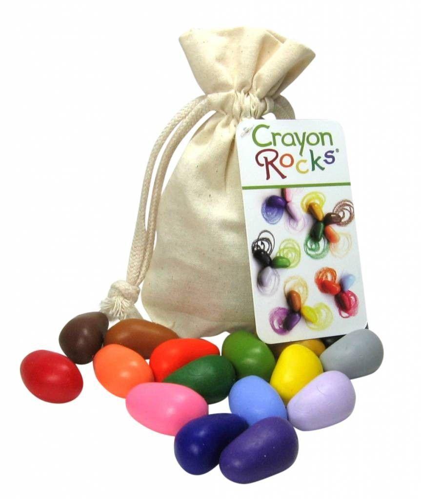 Crayon Rocks 16 krijtjes in ecru zakje Deze zijn echt zo leuk! Heeft Tristen vast veel plezier van!  #ooiebeest
