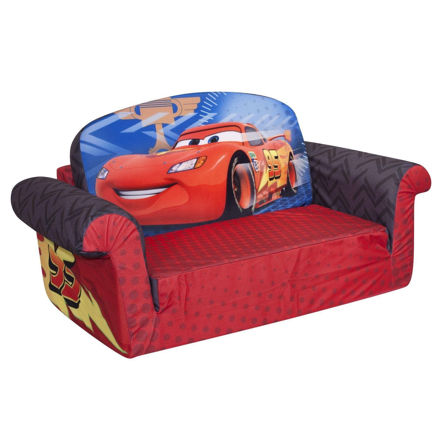 Amazon Com Marshmallow Children S Furniture 2 In 1 Flip Open Sofa Disney Cars 2 Toys Games Kids Sofa Toddler Sofa Foam Sofa