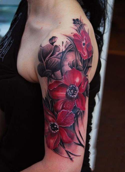 Kad n st kol d vmeleri upper arm tattoo for woman kad n for Upper arm tattoos for girls