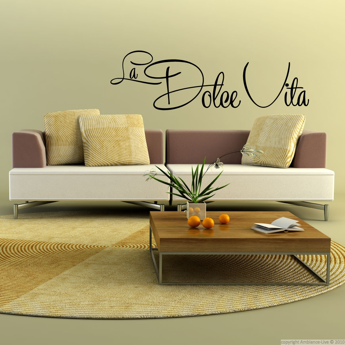 La Dolce Vita Wall Decal Quotes Pinterest # Muebles Dolce Vita