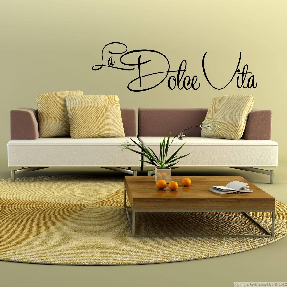 La Dolce Vita Wall Decal Quotes Pinterest # Muebles Dolce Vita