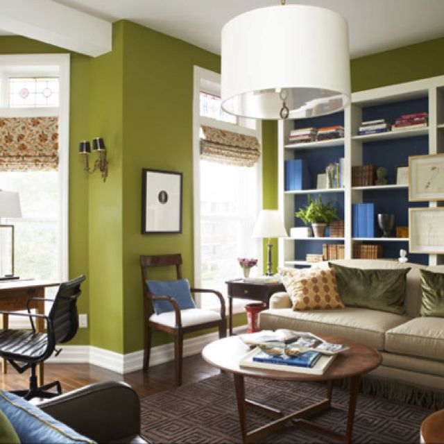 same room, different angle green living room   color planning - Wohnzimmer Braun Mint