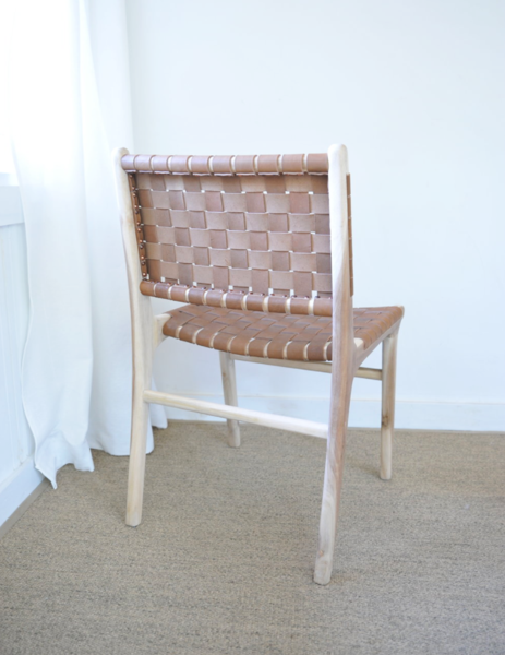 Brilliant Woven Leather Strap Dining Chair Saddle S Ibusinesslaw Wood Chair Design Ideas Ibusinesslaworg