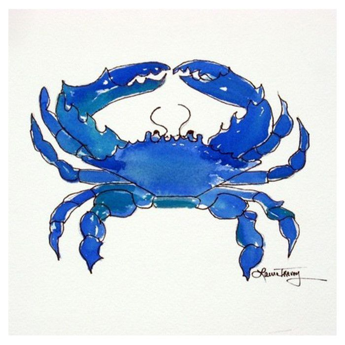 Blue Crab print by Laura Trevey