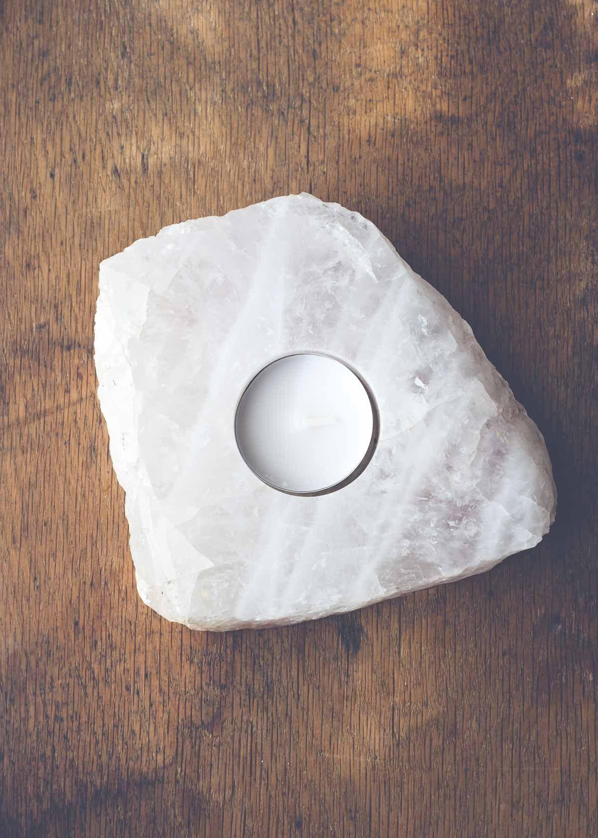 quartz slab candle holder | quartz, crystals and lights