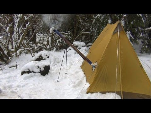 Compared to traditional Hot Tent Winter C&ing and Wood Stove. This was an overnight to enjoy the UltraLight Backpacking Hot Tent and Hammock Hot Shelter ... & The Dakota Fire Hole (How to make one and why I love it) - YouTube ...