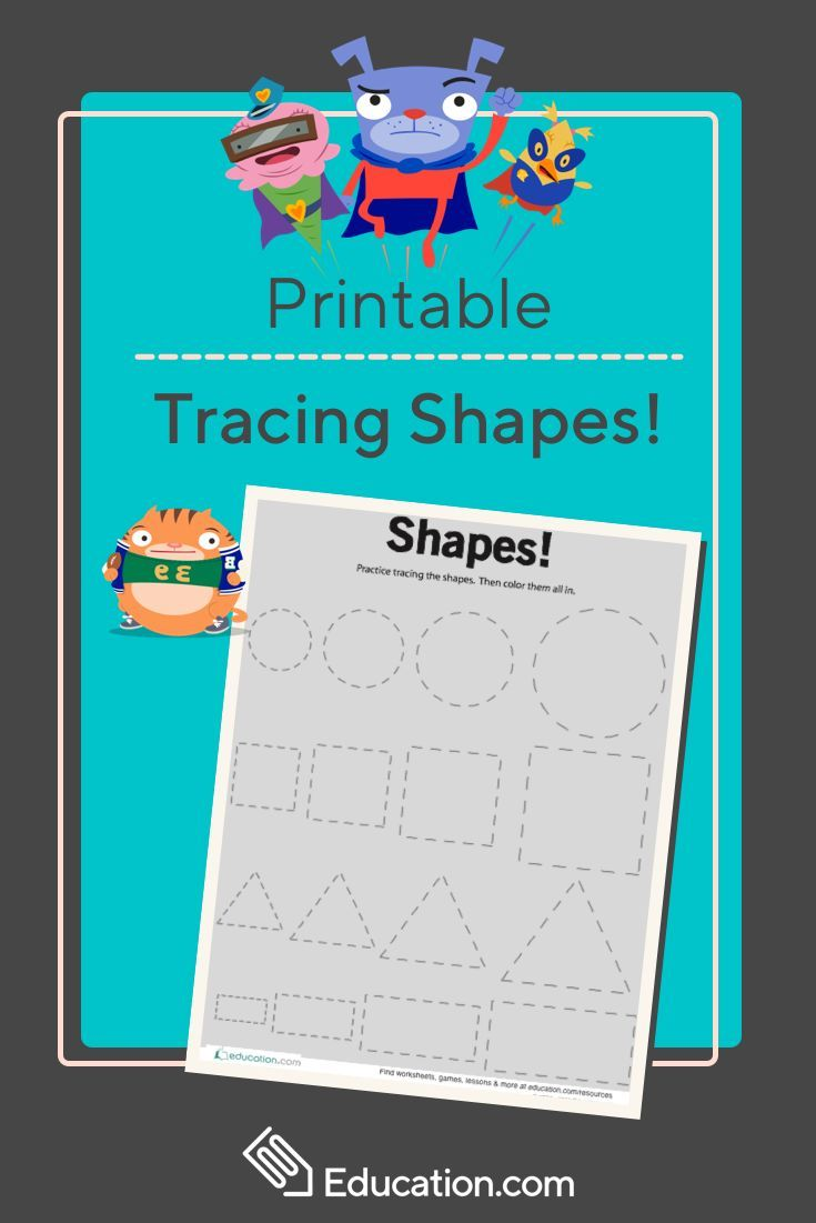 Tracing Basic Shapes | Pre-K Parade | Pinterest | Worksheets, Motor ...