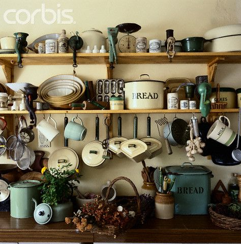 Captivating Vintage Kitchenware In Country Style Kitchen