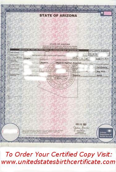 Need a certified copy of a birth certificate from Arizona quickly ...