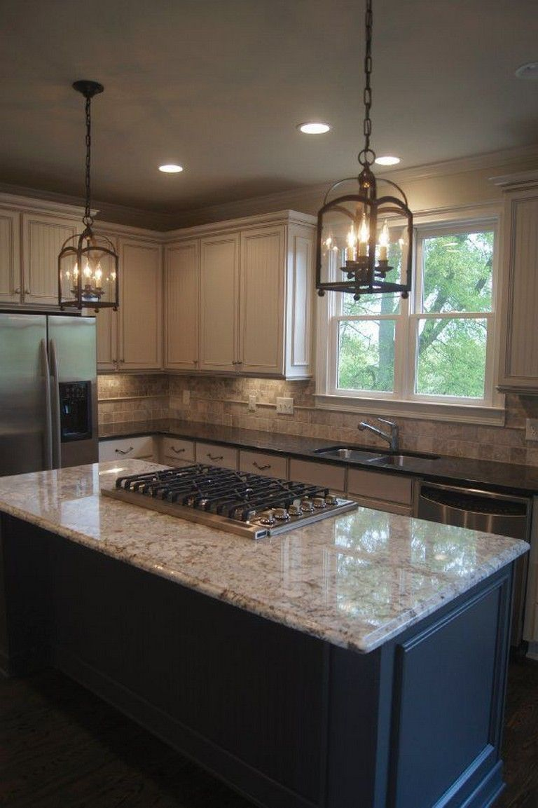 24 Gorgeous Light Cabinets Dark Countertops | Contrasting ...