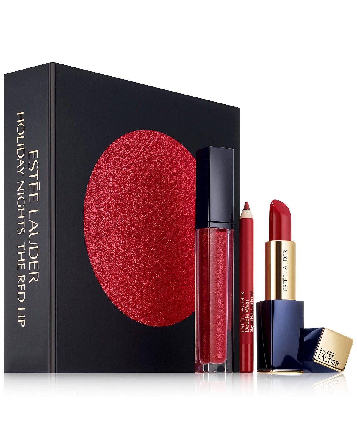 Estée Lauder 3Pc. The Red Lip Gift Set Makeup Beauty