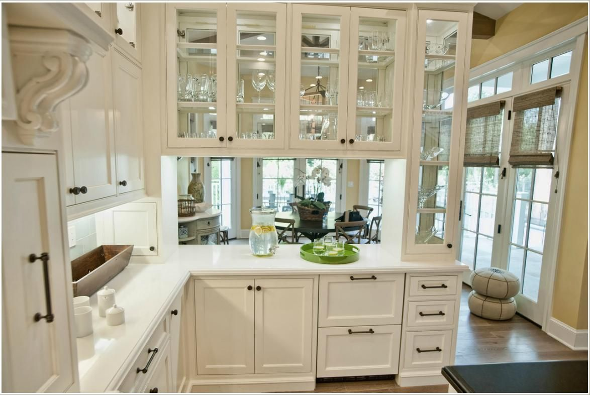 Glass Front Peninsula Cabinets Some Kitchens Have A Peninsula That Divides T Glass Fronted Kitchen Cabinets Glass Kitchen Cabinet Doors Glass Kitchen Cabinets