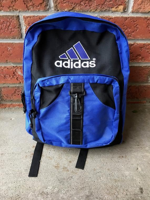1990s Vintage Adidas Backpack - 90s Adidas Knapsack School