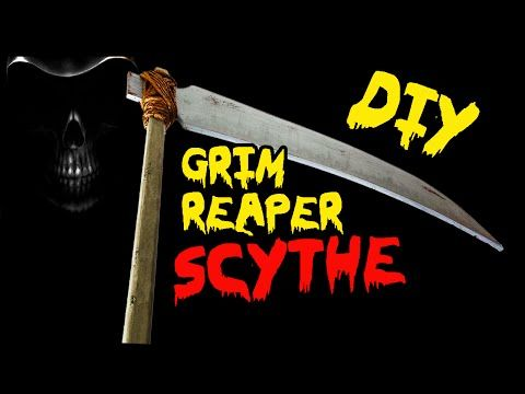 how to make a grim reaper scythe prop diy halloween decorations youtube
