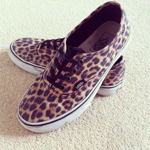 Animal Print Vans.   Zapatos, Calzas, Zapatillas