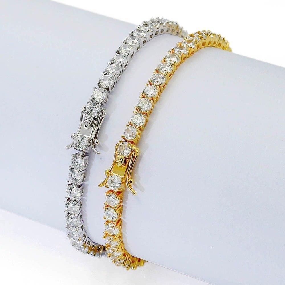 Missfox Hiphop 4mm Mens Tennis Bracelet Allah Luxury Brand 18k Gold Plated Bracelet Mijn Bestellingen Men Jewelr Mens Jewelry Silver Bracelet For Girls Jewelry